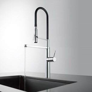 KWC Highflex Side Lever Mono Sink Mixer With Swivel Spout & Flexible Spray
