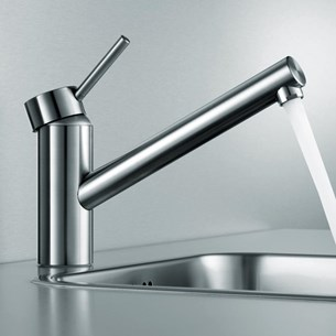 KWC Inox Single Lever Mono Sink Mixer With Swivel Spout