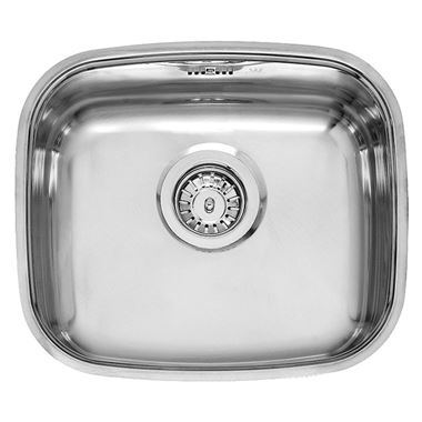 Reginox Single Bowl Stainless Steel Undermount Kitchen Sink & Waste - 400x340mm