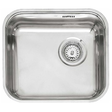 Reginox Single Bowl Stainless Steel Undermount Kitchen Sink & Waste - 405x353mm