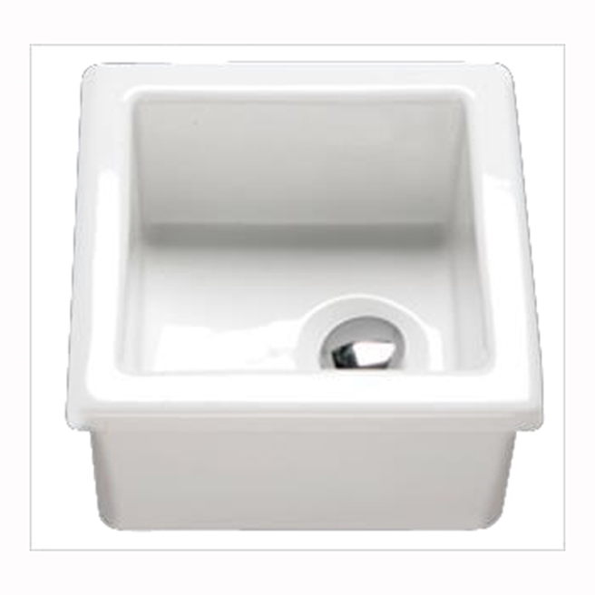 Butler & Rose Laboratory Sink 2 Single Bowl White Ceramic Sink - 330 x 330mm