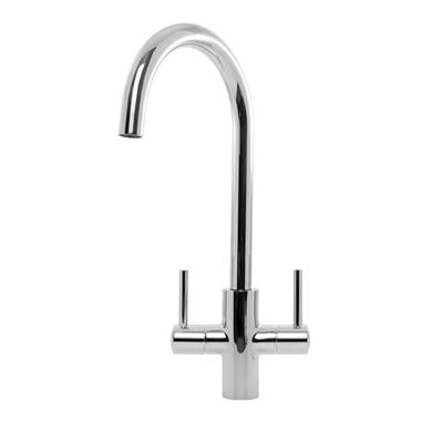 Caple Lamar Twin Lever WRAS Approved Mono Kitchen Mixer - Chrome