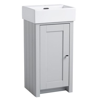Tavistock Lansdown 400mm Cloakroom Vanity Unit - Pebble Grey