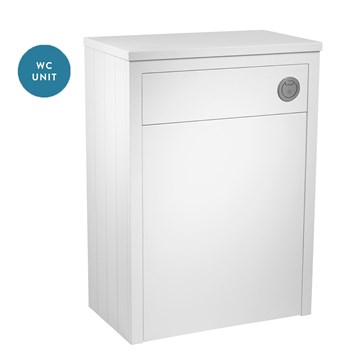 Tavistock Lansdown 600mm WC Back to Wall Toilet Unit - Linen White