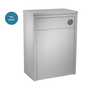 Tavistock Lansdown 600mm WC Back to Wall Toilet Unit - Pebble Grey