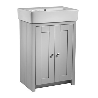 Tavistock Lansdown 550mm Free Standing Vanity Unit & Basin - Pebble Grey