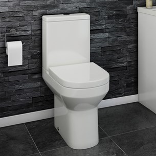Lark Comfort Height Close Coupled Toilet with Dual Flush Cistern & Soft Close Seat