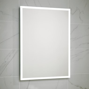 Harbour Glow LED Mirror with Demister Pad & Shaver Socket - 600 x 800mm
