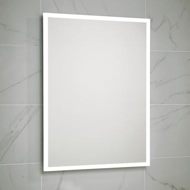 Harbour Glow LED Mirror with Demister Pad & Shaver Socket - 500 x 700mm