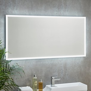Harbour Glow LED Bathroom Mirror with Heated Demister Pad - 1200 x 600mm