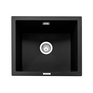 Caple Leesti 1 Bowl Anthracite Inset or Undermount Granite Composite Kitchen Sink & Waste Kit - 533 x 457mm