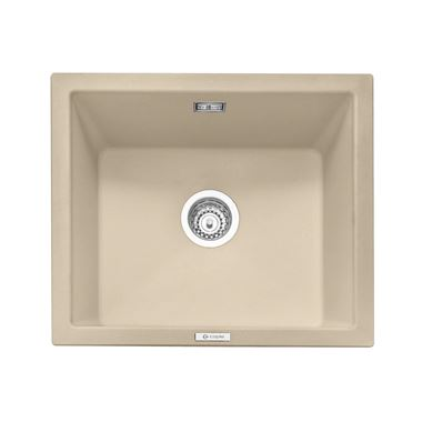 Caple Leesti 1 Bowl Desert Sand Inset or Undermount Granite Composite Kitchen Sink & Waste Kit - 533 x 457mm