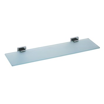 Vado Level Wall Mounted Frosted Glass Shelf