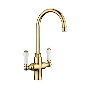 Butler & Rose Elizabeth Traditional Mono Kitchen Mixer - Gold