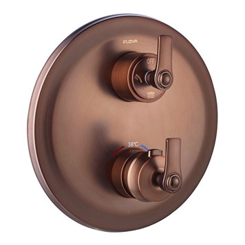 Flova Liberty 2 Outlet Concealed Thermostatic Mixer Valve with Easyfit SmartBOX - Oil Rubbed Bronze