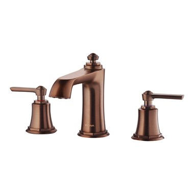 Flova Liberty 3 Hole Basin Mixer with Clicker Waste - Oil Rubbed Bronze