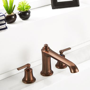 Flova Liberty 3 Hole Deck Mounted Bath Mixer Tap - Oil Rubbed Bronze