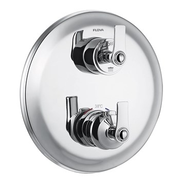 Flova Liberty 3 Outlet Concealed Thermostatic Mixer Valve with Easyfit SmartBOX - Chrome
