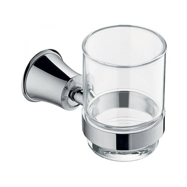 Flova Liberty Glass Tumbler & Holder - Chrome