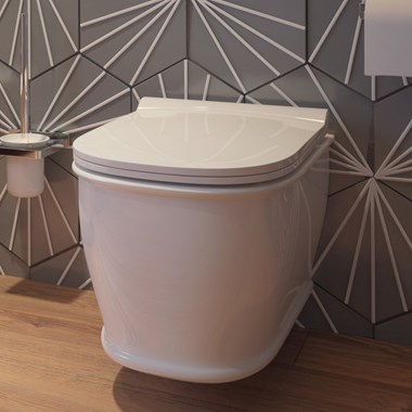 Imex Liberty Rimless Wall Hung Toilet and Soft Close Seat