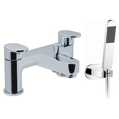 Vado Life Deck Mounted 2 Hole Bath Shower Mixer With Kit