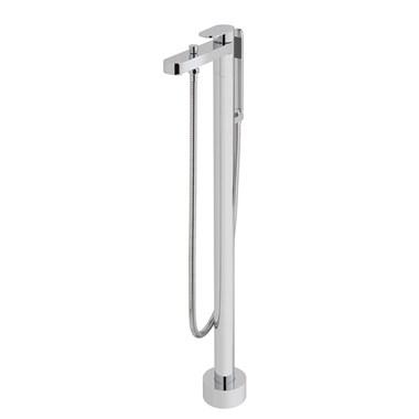 Vado Life Floor Mounted Bath Shower Mixer with Shower Kit
