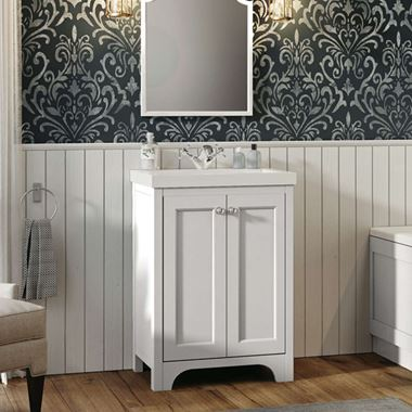 Butler & Rose Benedict 600mm Floorstanding Vanity Unit & Basin - Arctic White