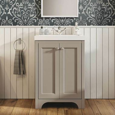 Butler & Rose Benedict 600mm Floorstanding Vanity Unit & Basin - Dovetail Grey