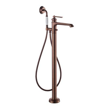 Flova Liberty Floor Standing Bath Shower Mixer with Handset Kit - Oil Rubbed Bronze