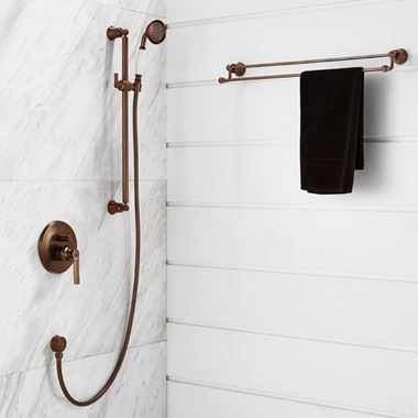 Flova Liberty Slide Rail Kit with Single Function Handset - Oil Rubbed Bronze