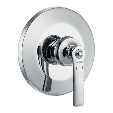 Flova Liberty Single Outlet Concealed Manual Mixer Valve - Chrome