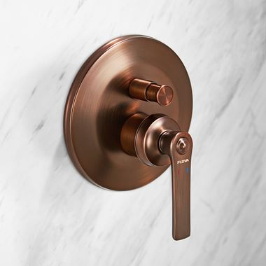 Flova Liberty 2 Outlet Concealed Manual Mixer Valve with Easyfit SmartBOX - Oil Rubbed Bronze