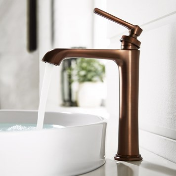 Flova Liberty Tall Mono Basin Mixer with Clicker Waste - Oil Rubbed Bronze