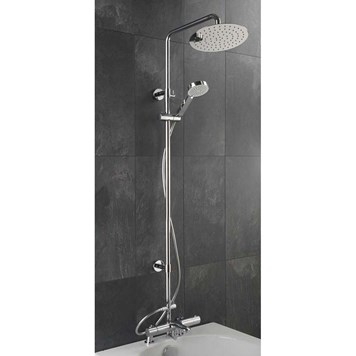 Sagittarius Logic Bath Mounted Thermostatic Shower And Riser