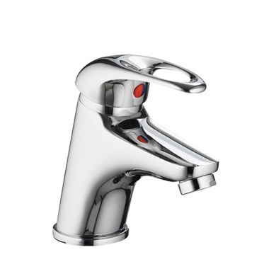 Vellamo Loop Small Basin Mixer with Clicker Waste