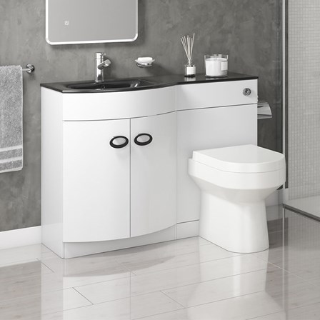 Drench Lorraine 1100mm Gloss White Combination Vanity