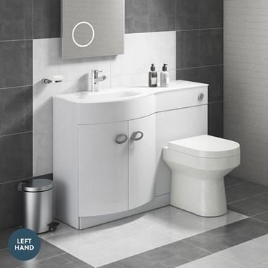 Drench Lorraine 1100mm Width Furniture Suite with Back-to-Wall Toilet & Cistern