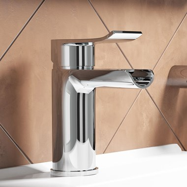 Vellamo River Waterfall Basin Mixer with Clicker Waste