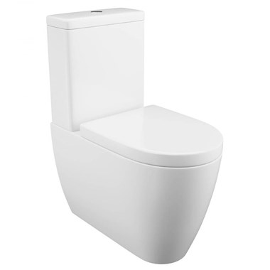 Harbour Clarity Fully Cloaked Close Coupled Toilet, WRAS Approved Cistern & Soft Close Seat