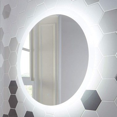 Harbour Glow Round LED Bathroom Mirror with Demister Pad - 800mm