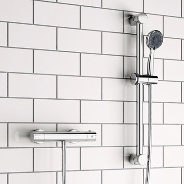 Lundy Thermostatic Bar Shower Valve & Slide Rail Kit
