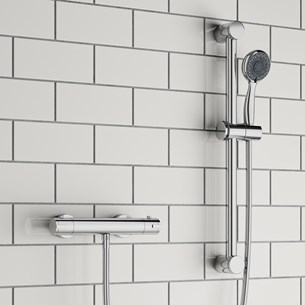 Elba Thermostatic Bar Shower Valve & Slide Rail Kit