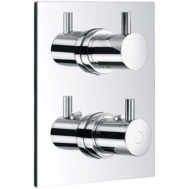 Flova Levo Square 3 Outlet Concealed Thermostatic Shower Valve