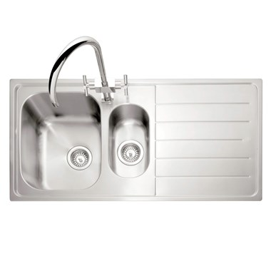 Caple Lyon 1.5 Bowl Satin Stainless Steel Sink & Waste Kit - 1000 x 500mm