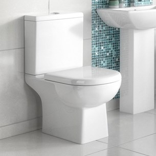 Lyre Modern Close-Coupled Toilet with Soft-Close Seat