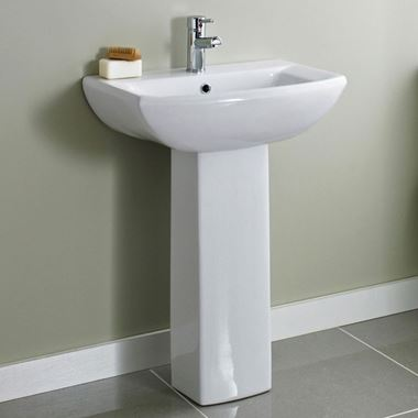 Lyre 600mm Full Pedestal & Basin