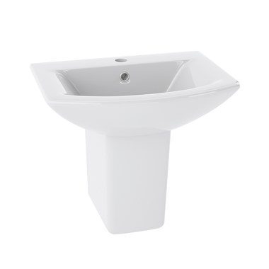 Lyre 500mm Semi Pedestal & Basin