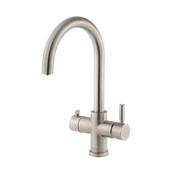 Clearwater Maestro 3 in 1 Instant Hot Water Kitchen Sink Mixer Tap with Boiler Unit & Filter - Brushed Nickel
