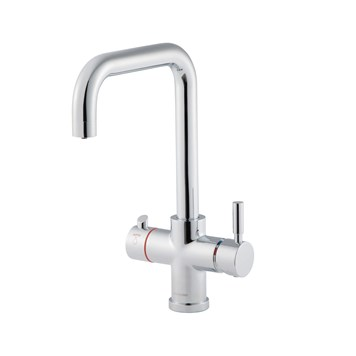 Clearwater Maestro 3 in 1 Instant Hot Water Kitchen Sink Mixer 'U Spout' Tap with Boiler Unit & Filter - Chrome