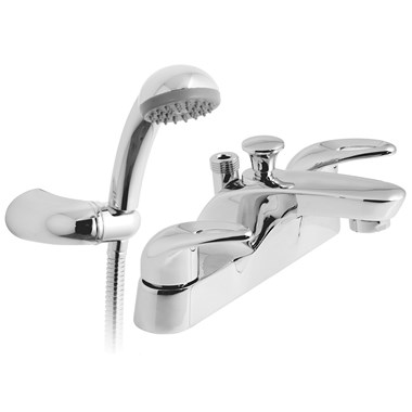 Vado Magma Deck Mounted 2 Hole Bath Shower Mixer with Kit
